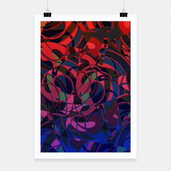 Thumbnail image of Hot Summer Nights Abstract - Reds and Blues Poster, Live Heroes