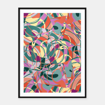 Thumbnail image of Colorful Abstract - Greens and Golds Framed poster, Live Heroes