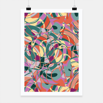 Thumbnail image of Colorful Abstract - Greens and Golds Poster, Live Heroes