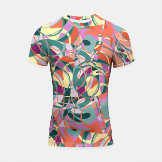 Thumbnail image of Colorful Abstract - Greens and Golds Shortsleeve Rashguard, Live Heroes