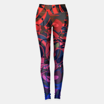 Thumbnail image of Hot Summer Nights Abstract - Reds and Blues Leggings, Live Heroes