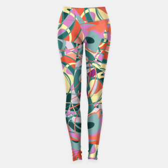 Thumbnail image of Colorful Abstract - Greens and Golds Leggings, Live Heroes