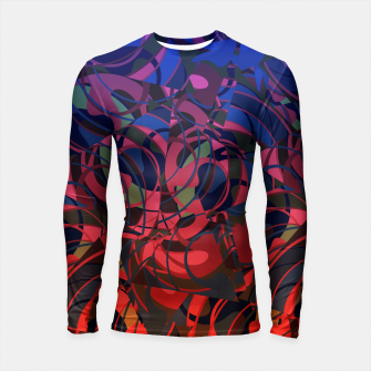 Thumbnail image of Hot Summer Nights Abstract - Reds and Blues Longsleeve Rashguard , Live Heroes
