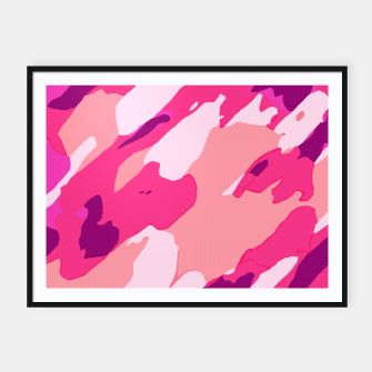 Thumbnail image of camouflage graffiti painting texture abstract in pink and purple Framed poster, Live Heroes