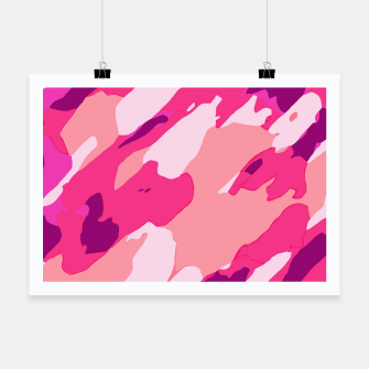 Miniatur camouflage graffiti painting texture abstract in pink and purple Poster, Live Heroes