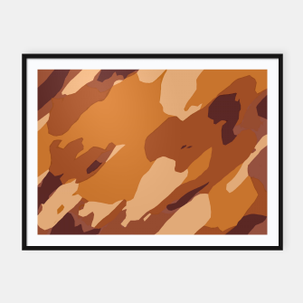 Thumbnail image of camouflage graffiti painting texture abstract in brown and yellow Framed poster, Live Heroes