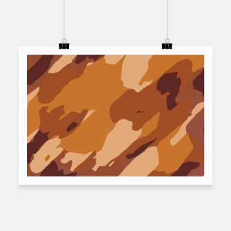 Miniatur camouflage graffiti painting texture abstract in brown and yellow Poster, Live Heroes