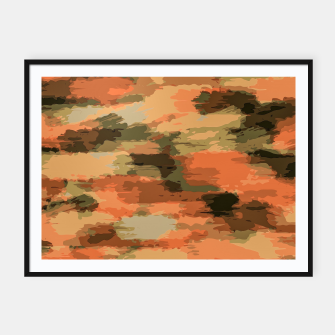Thumbnail image of camouflage graffiti painting texture abstract in brown and green Framed poster, Live Heroes