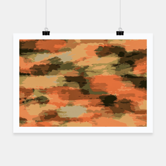 Miniatur camouflage graffiti painting texture abstract in brown and green Poster, Live Heroes