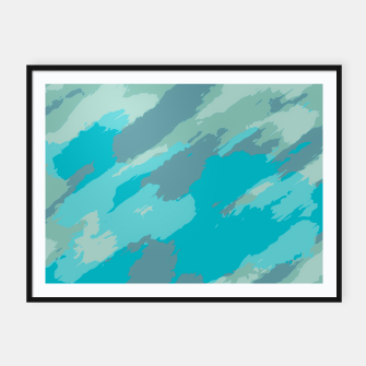 Thumbnail image of camouflage graffiti painting texture abstract in blue Framed poster, Live Heroes