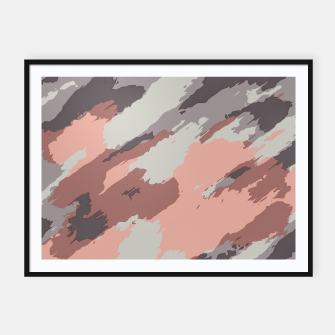 Thumbnail image of camouflage graffiti painting texture abstract pink grey and black Framed poster, Live Heroes