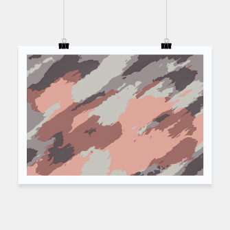 Miniatur camouflage graffiti painting texture abstract pink grey and black Poster, Live Heroes