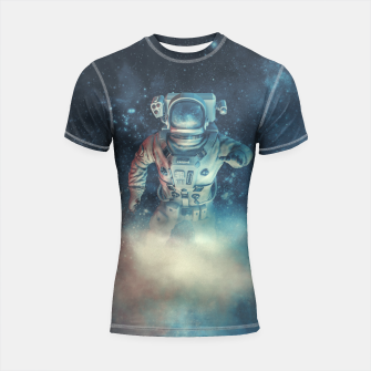 Thumbnail image of Into The Oort Cloud Shortsleeve Rashguard, Live Heroes