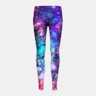 Thumbnail image of Nebulous Grunge  Girl's Leggings, Live Heroes