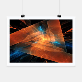 Miniatur Triangular Abstraction Poster, Live Heroes
