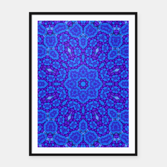Thumbnail image of Blues and Purples Mandala Framed poster, Live Heroes