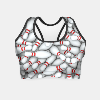 Thumbnail image of Bowling Pins Crop Top, Live Heroes