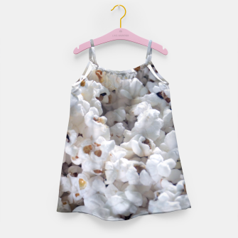 Thumbnail image of White Popped Popcorn pattern Girl's Dress, Live Heroes