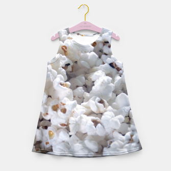 Thumbnail image of White Popped Popcorn pattern Girl's Summer Dress, Live Heroes
