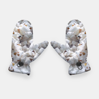 Thumbnail image of White Popped Popcorn pattern Gloves, Live Heroes