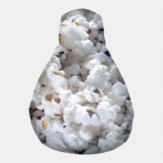 Thumbnail image of White Popped Popcorn pattern Pouf, Live Heroes