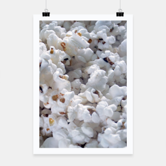 Thumbnail image of White Popped Popcorn pattern Poster, Live Heroes