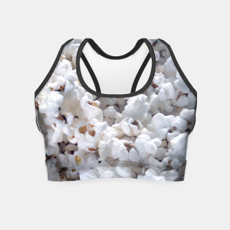 Thumbnail image of White Popped Popcorn pattern Crop Top, Live Heroes