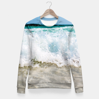 Thumbnail image of Tropical Summer Beach Fitted Waist Sweater, Live Heroes