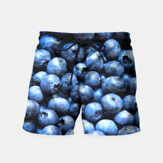 Thumbnail image of Blueberries pattern Swim Shorts, Live Heroes