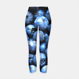 Thumbnail image of Blueberries pattern Yoga Pants, Live Heroes