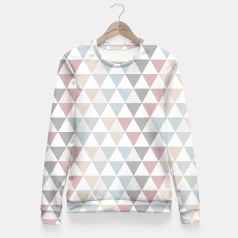 Geometric Pattern Wanderlust Pastel Fitted Waist Sweater thumbnail image