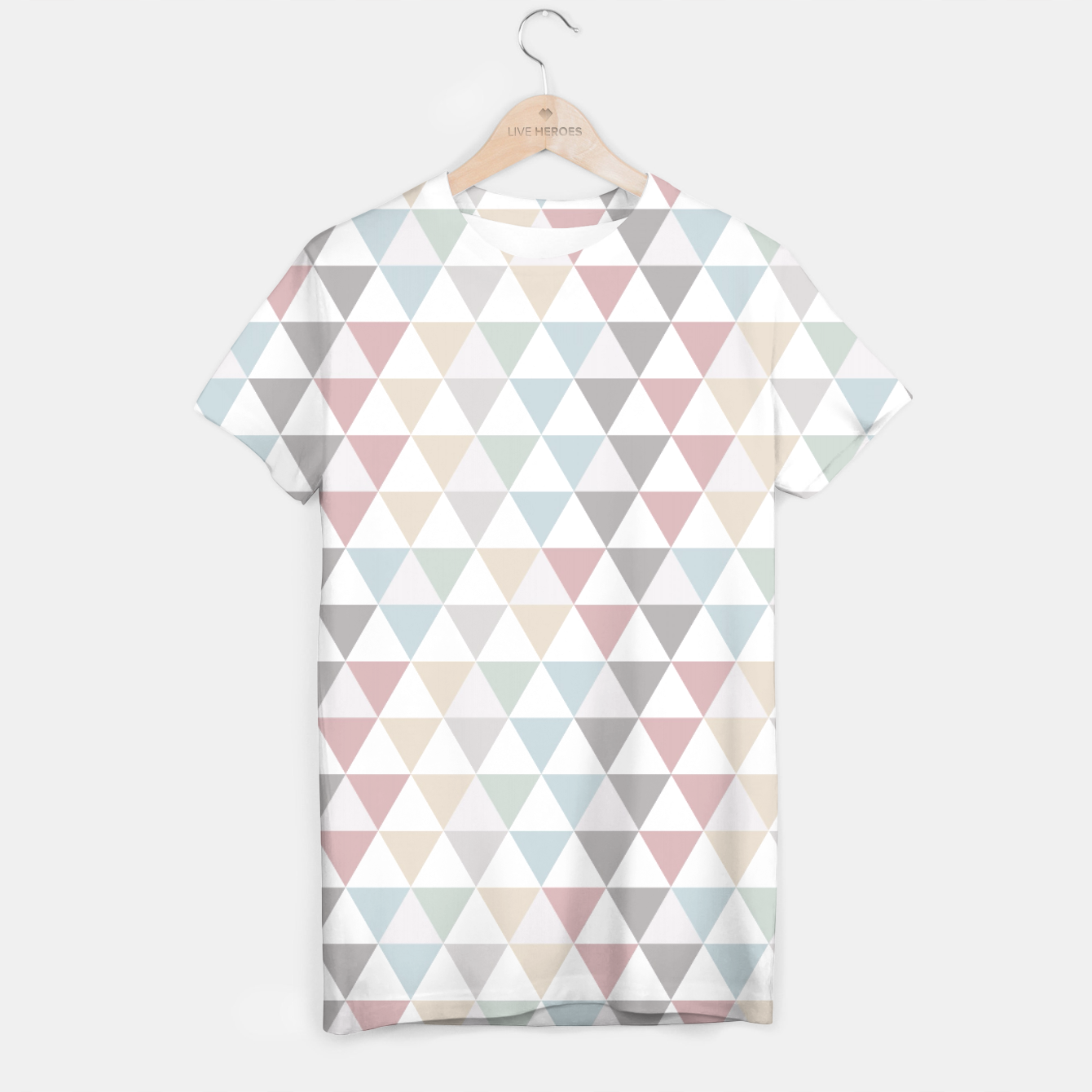 Image of Geometric Pattern Wanderlust Pastel T-shirt - Live Heroes