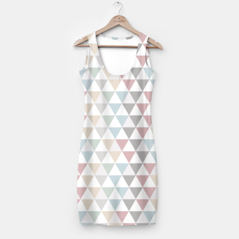 Thumbnail image of Geometric Pattern Wanderlust Pastel Simple Dress, Live Heroes