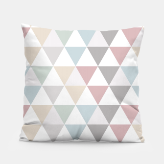 Thumbnail image of Geometric Pattern Wanderlust Pastel Pillow, Live Heroes