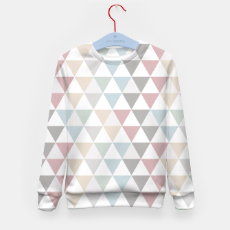 Thumbnail image of Geometric Pattern Wanderlust Pastel Kid's Sweater, Live Heroes