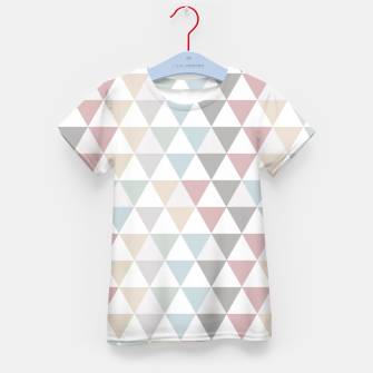 Thumbnail image of Geometric Pattern Wanderlust Pastel Kid's T-shirt, Live Heroes