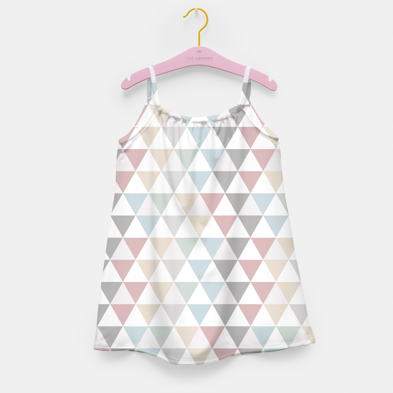 Image of Geometric Pattern Wanderlust Pastel Girl's Dress - Live Heroes