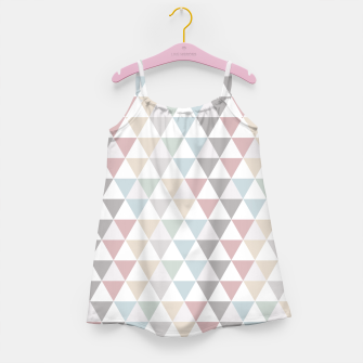 Thumbnail image of Geometric Pattern Wanderlust Pastel Girl's Dress, Live Heroes