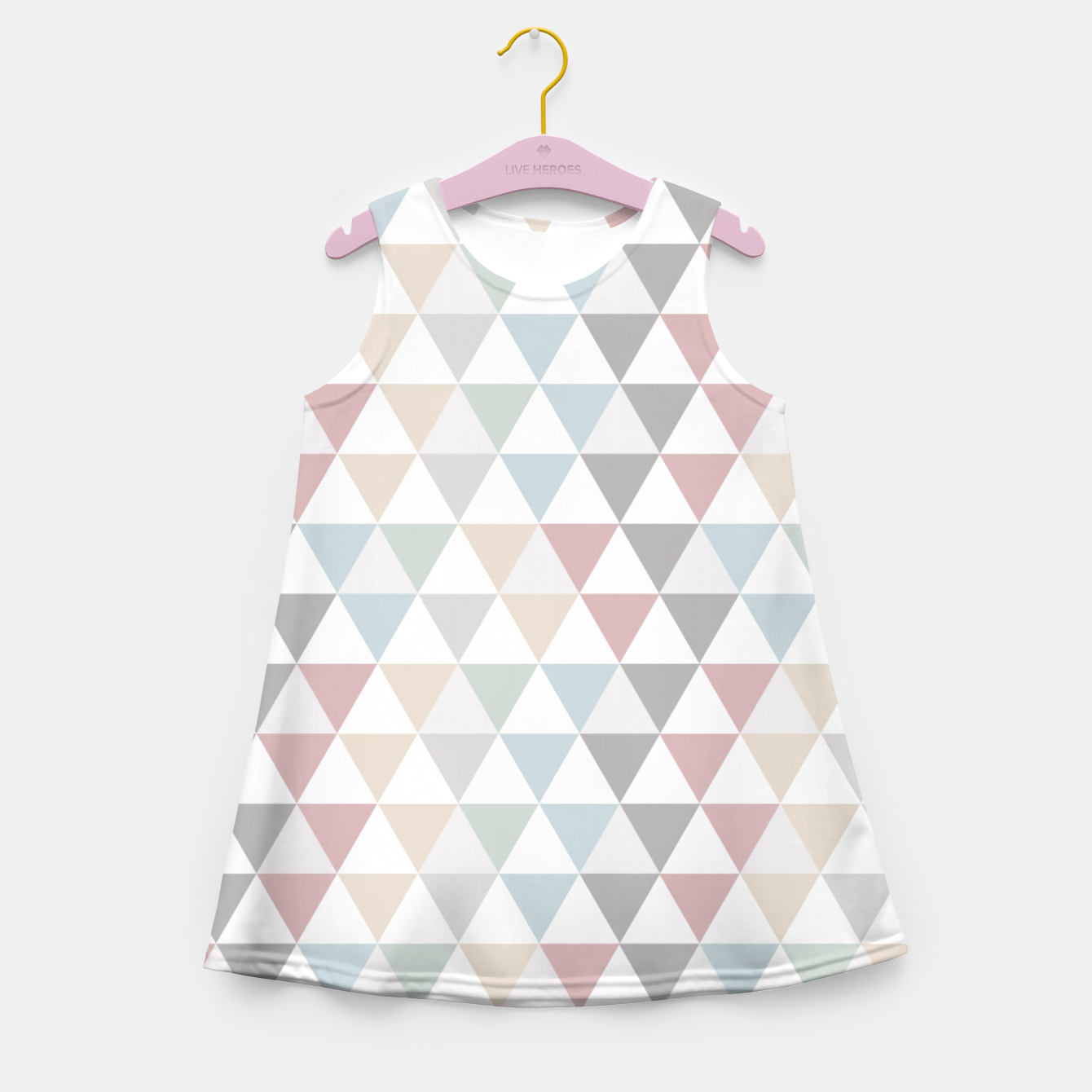 Image of Geometric Pattern Wanderlust Pastel Girl's Summer Dress - Live Heroes
