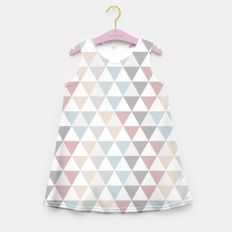 Thumbnail image of Geometric Pattern Wanderlust Pastel Girl's Summer Dress, Live Heroes