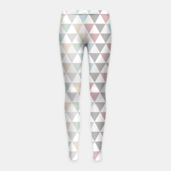 Thumbnail image of Geometric Pattern Wanderlust Pastel Girl's Leggings, Live Heroes