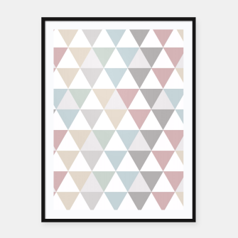 Thumbnail image of Geometric Pattern Wanderlust Pastel Framed poster, Live Heroes
