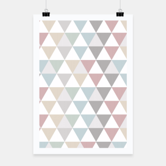 Thumbnail image of Geometric Pattern Wanderlust Pastel Poster, Live Heroes