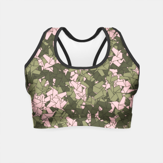 Thumbnail image of Origami Unicorn Camo PINK Crop Top, Live Heroes