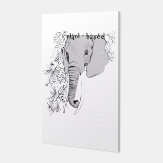 plant-based elephant Canvas obraz miniatury