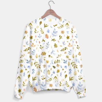 Thumbnail image of Watercolor leaf Pattern Botanicals Sweater, Live Heroes