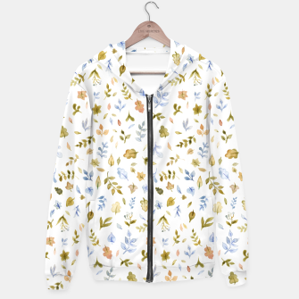 Watercolor leaf Pattern Botanicals Hoodie thumbnail image