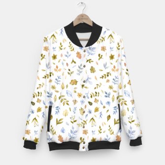Thumbnail image of Watercolor leaf Pattern Botanicals Baseball Jacket, Live Heroes