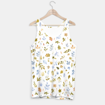 Watercolor leaf Pattern Botanicals Tank Top thumbnail image