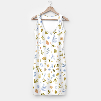 Thumbnail image of Watercolor leaf Pattern Botanicals Simple Dress, Live Heroes